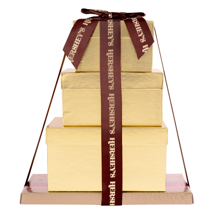 Image of HERSHEY'S Four-Box Chocolate Gift Tower Packaging