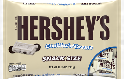 HERSHEY'S Cookies 'n' Crème Snack Size, 10.35 oz.