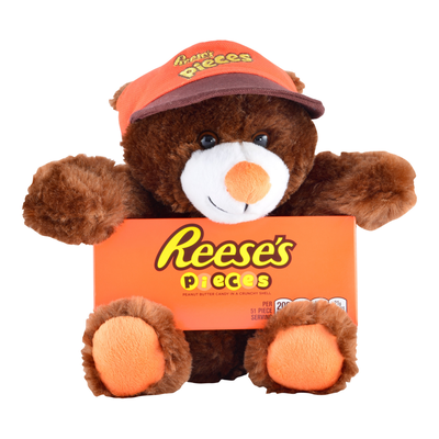 REESE'S Plush Bear with Hat Gift with REESE'S PIECES Candy