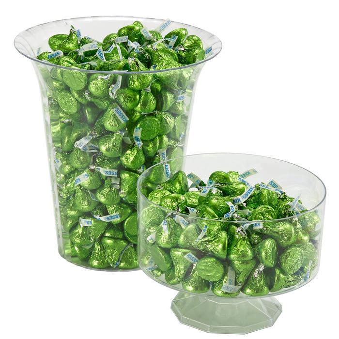 Image of KISSES Milk Chocolates in Kiwi Green Foils - 4.16 lbs. [4.16 lb. bag] Packaging