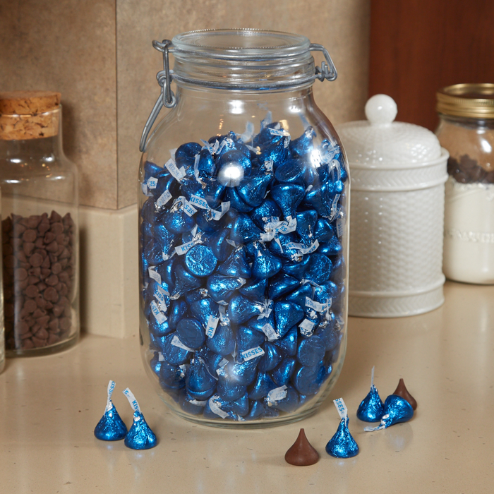 Image of KISSES Milk Chocolates in Dark Blue Foils - 4.16 lbs. [4.16 lb. bag] Packaging