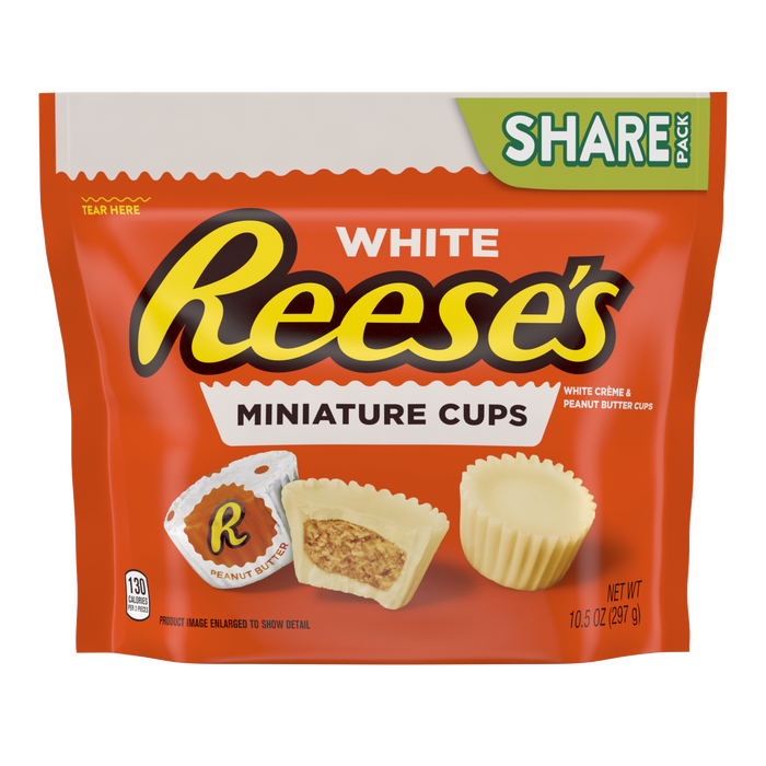 Image of REESE'S White Peanut Butter Cups Miniatures Packaging