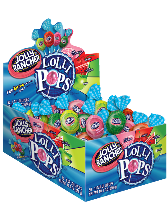 Image of JOLLY RANCHER Assorted Lollipops - 50 ct. [30 oz. box] Packaging