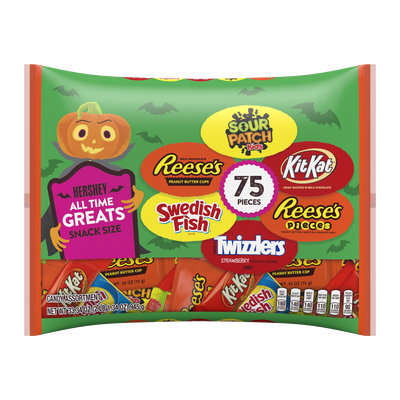 Hershey Halloween All Time Greats Snack Size Assortment, 33.34 oz bag, 75 pieces