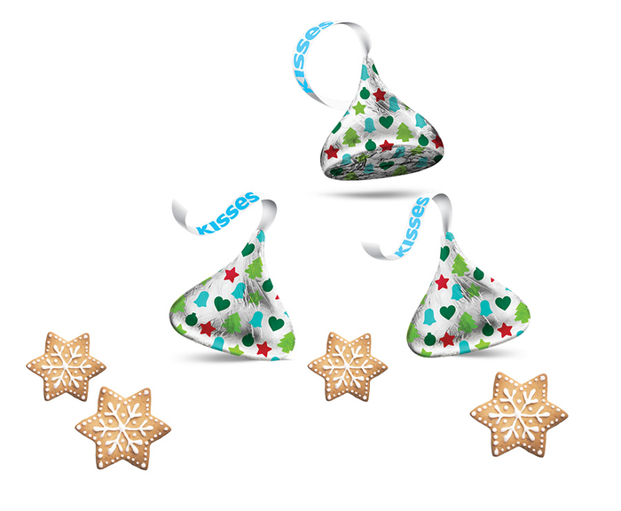 Image of HERSHEY'S KISSES Sugar Cookie White Creme Candy, 9 oz. bag Packaging