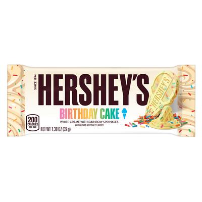HERSHEY'S Ice Cream Shoppe Birthday Cake Flavored Candy Bar, 1.38 oz.