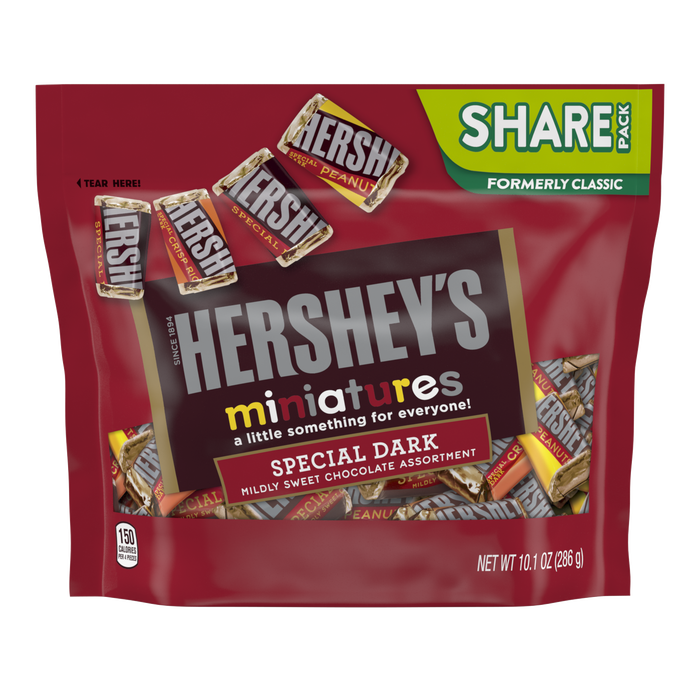 Image of HERSHEY'S SPECIAL DARK Miniatures, 10.1 oz. bag Packaging