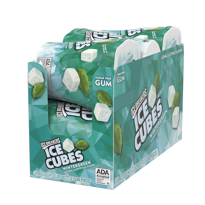 Image of ICE BREAKERS ICE CUBES Wintergreen Gum Packaging