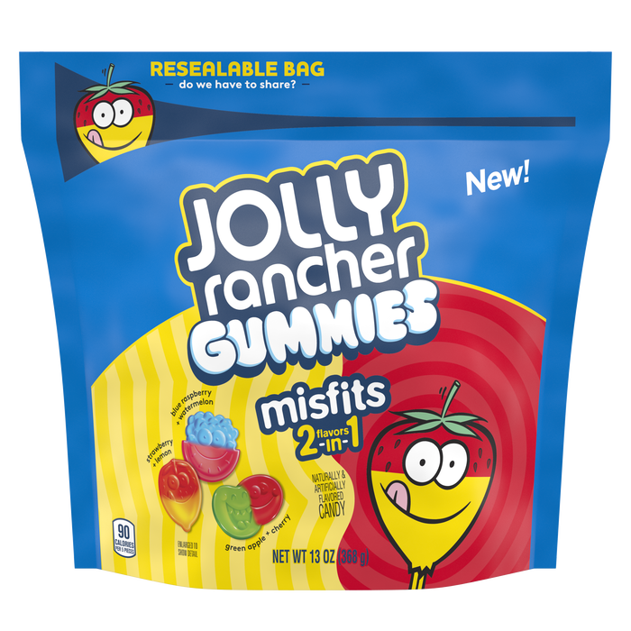Image of JOLLY RANCHER Misfits Gummies Assortment Packaging