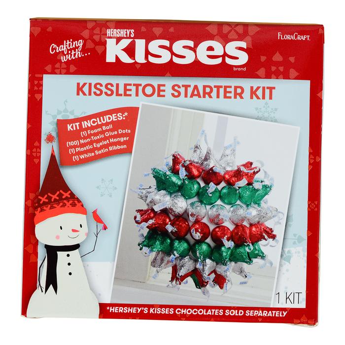Image of KISSES Floracraft Holiday KISSLETOE Decoration Activity Kit [1 kit] Packaging