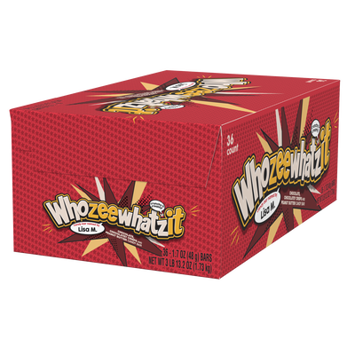 WHOZEEWHATZIT Chocolate Candy Bar, 1.7 oz