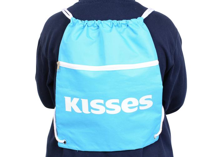 Image of HERSHEY'S KISSES Drawstring Backpack Packaging