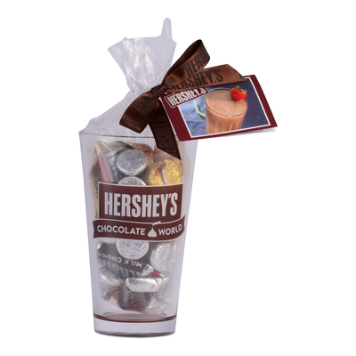 HERSHEY'S Chocolate World Pint Glass Filled with Candy