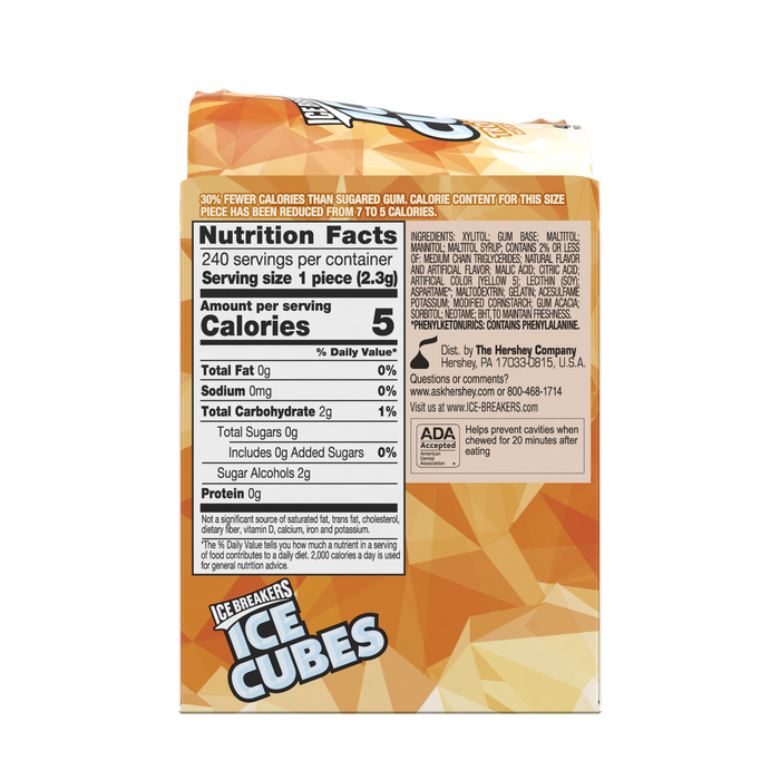 Image of ICE BREAKERS ICE CUBES Tropical Gum Packaging