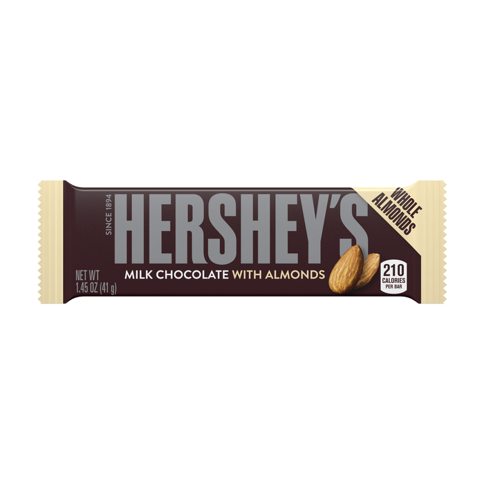 Image of HERSHEY'S Milk Chocolate with Almonds Standard Bar (36 ct.) Packaging