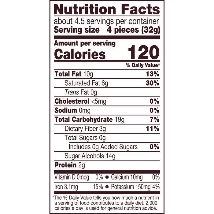 Image of HERSHEY'S SPECIAL DARK Zero Sugar Chocolate Candy Bar, 5.1 oz bag Packaging