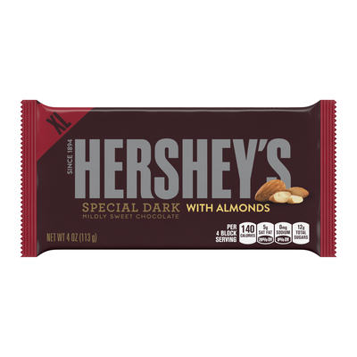 HERSHEY'S SPECIAL DARK with Almonds Extra Large (4 oz.) Bar
