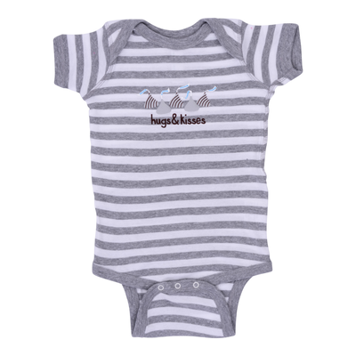 HERSHEY'S HUGS & KISSES Gray Bodysuit