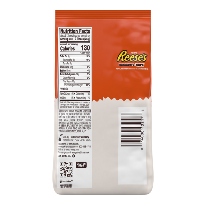 Image of REESE'S White Peanut Butter Cups Miniatures [12 oz. bag] Packaging