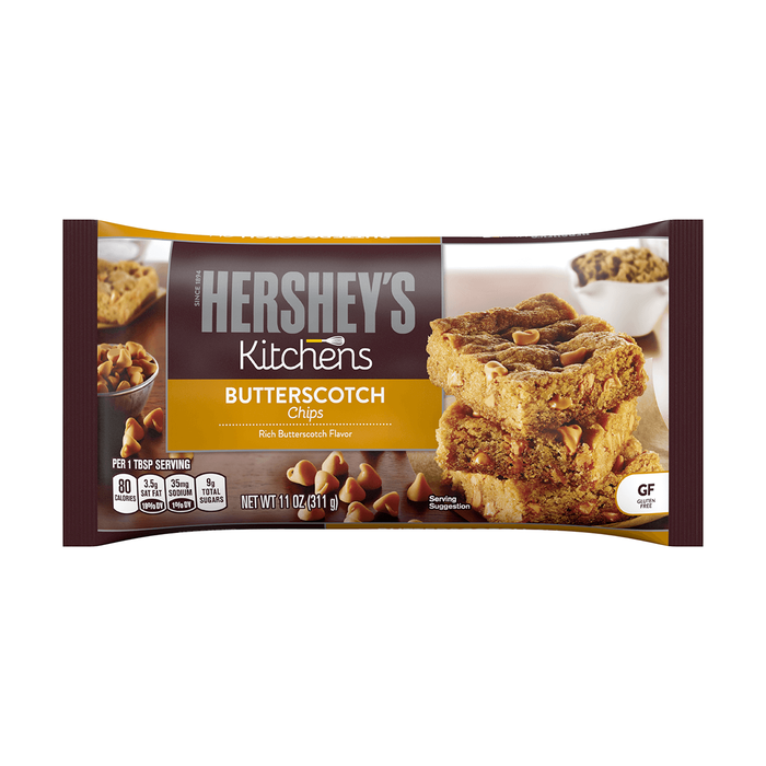 Image of HERSHEY'S Kitchens Butterscotch Chips, 11 oz. Bag Packaging