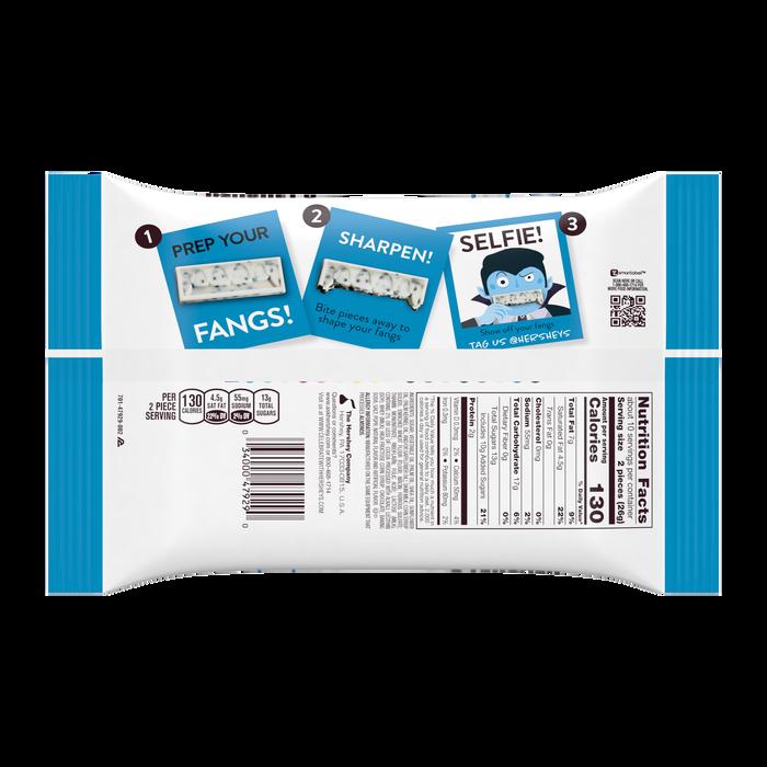 Image of HERSHEY'S Halloween Cookies 'n' Creme Fangs Snack Size Packaging