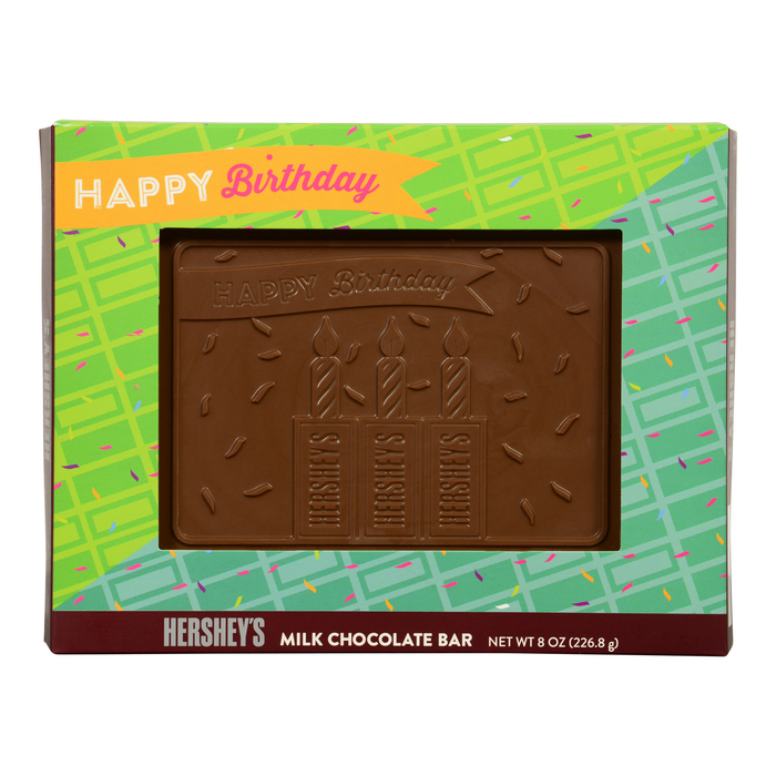 "Image of HERSHEY'S ""Happy Birthday"" Chocolate Bar - 8 oz. Packaging"