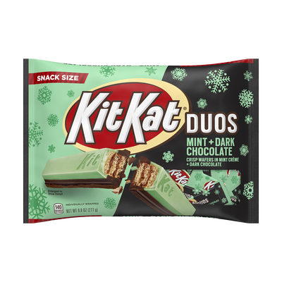 KIT KAT® DUOS Crisp Wafers in Mint Creme + Dark Chocolate Snack Size, 9.8 oz.