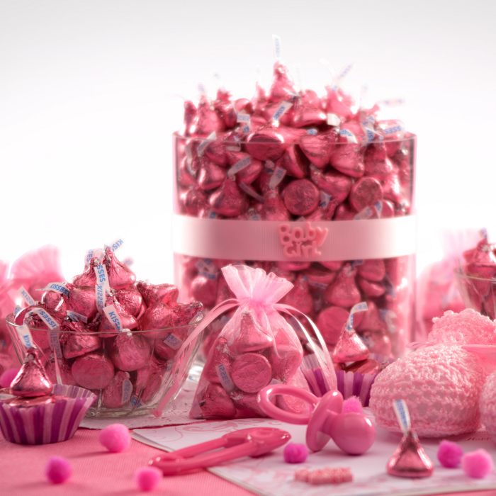 Image of KISSES Milk Chocolates in Pink Foils - 4.16 lb. [4.16 lb. bag] Packaging