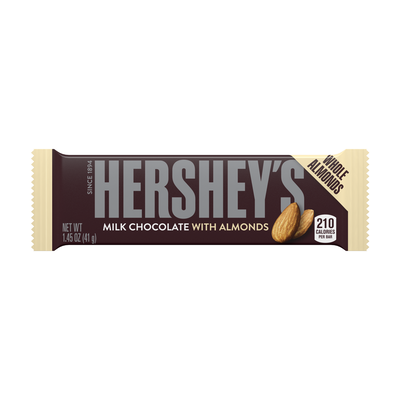 HERSHEY'S Milk Chocolate with Almonds Standard Bar (36 ct.)