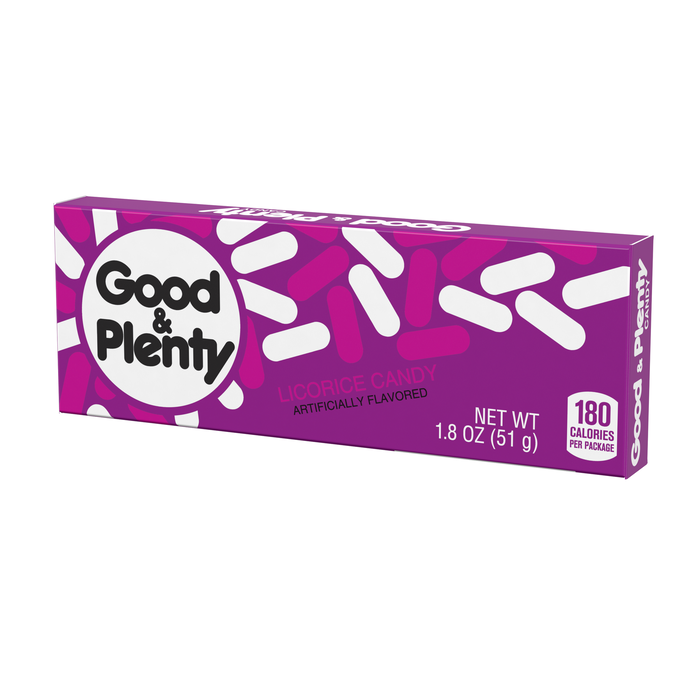 Image of GOOD & PLENTY Licorice Candy Standard Box Packaging