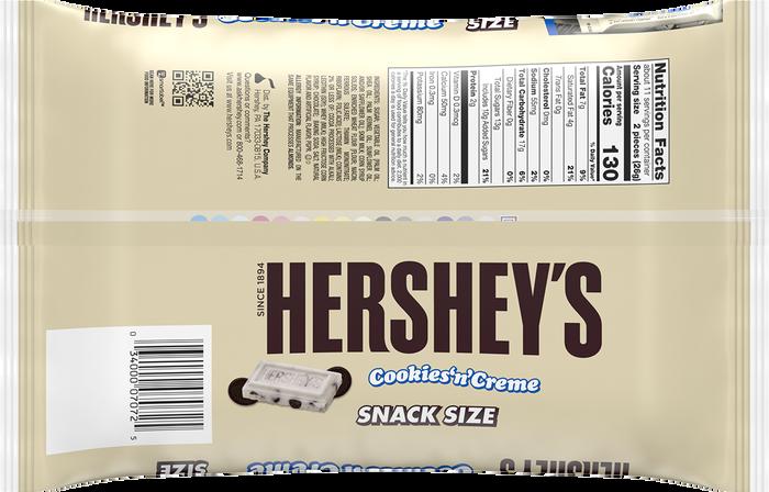 Image of HERSHEY'S Cookies 'n' Crème Snack Size, 10.35 oz. bag Packaging