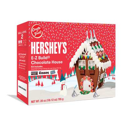 HERSHEY'S E-Z Build Chocolate Cookie House Kit