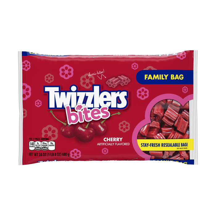 Image of TWIZZLERS BITES Cherry - 24 oz. Packaging