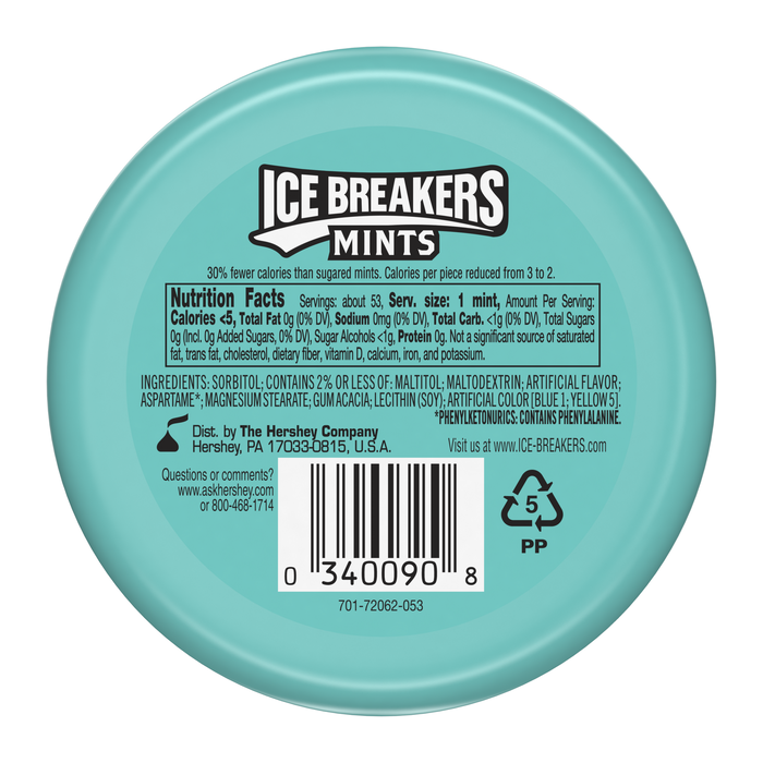 Image of ICE BREAKERS Mints in Wintergreen Packaging