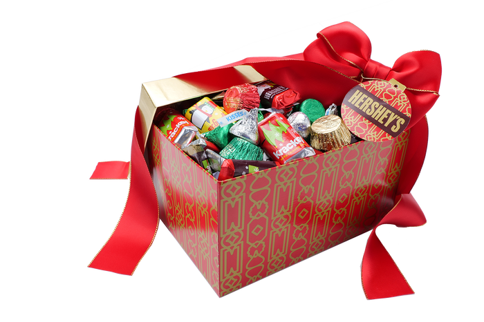 Image of HERSHEY'S Chocolate Holiday Gift Box, 2 lbs. Packaging
