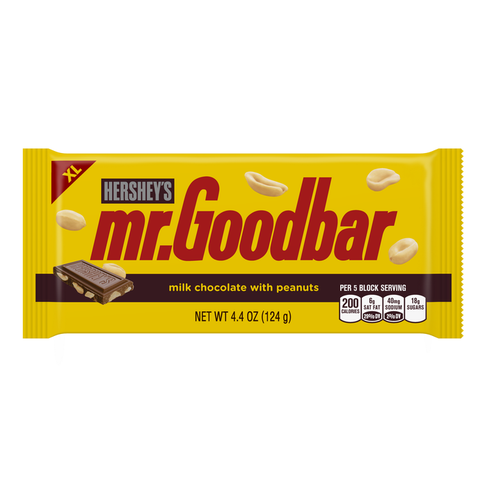 Image of MR. GOODBAR Extra Large (4.4 oz.) Bar [12-Pack (12 x 4.4 oz. bar)] Packaging