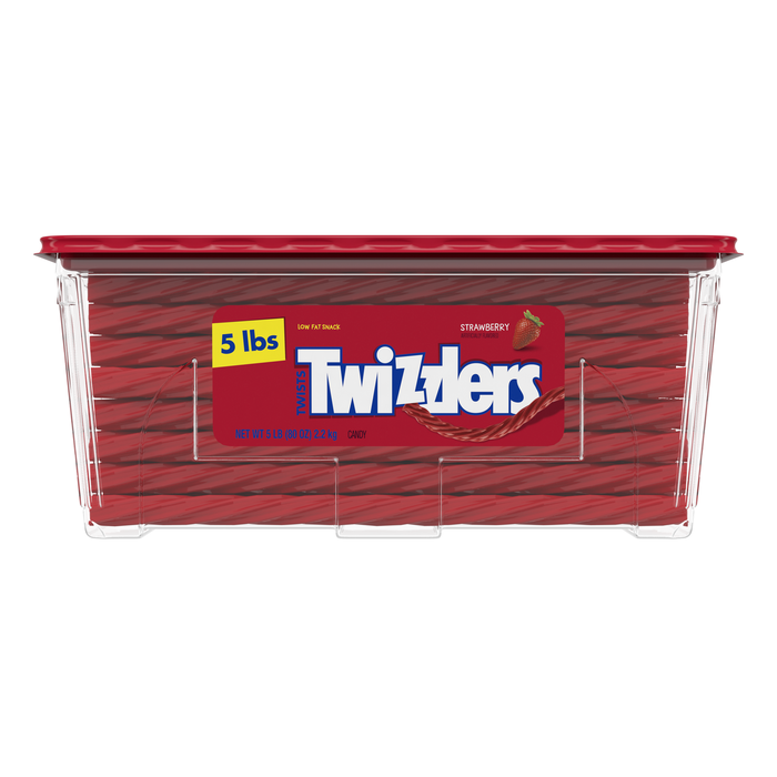 Image of TWIZZLERS Strawberry Twists - 5 lbs. tub Packaging
