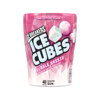 ICE BREAKERS ICE CUBES Bubble Breeze Gum, 3.24 oz. - 4 ct.