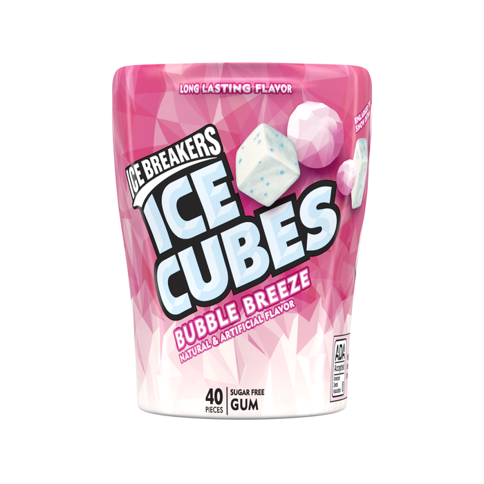 Image of ICE BREAKERS ICE CUBES Bubble Breeze Gum, 3.24 oz. - 4 ct. Packaging