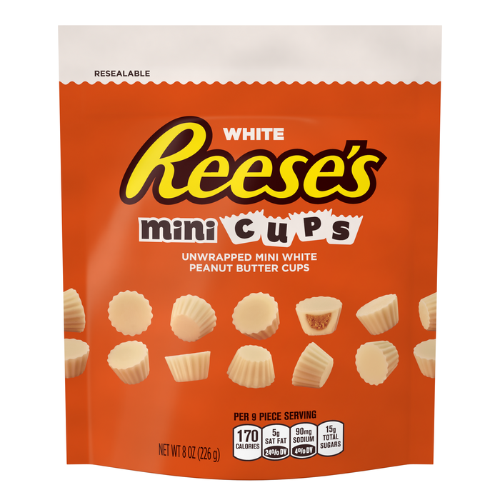 Image of REESE'S White Minis Cups [8 oz. bag] Packaging