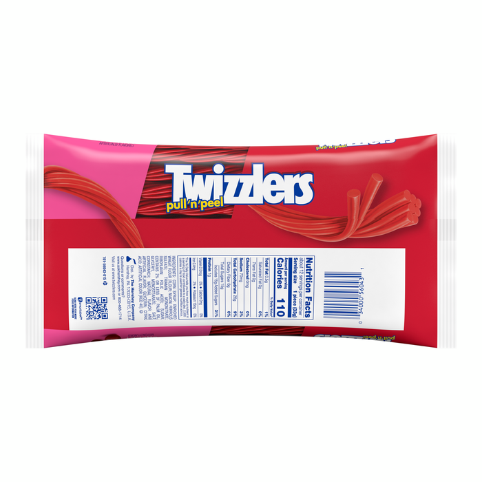 Image of TWIZZLERS PULL 'N' PEEL Cherry Candy Packaging