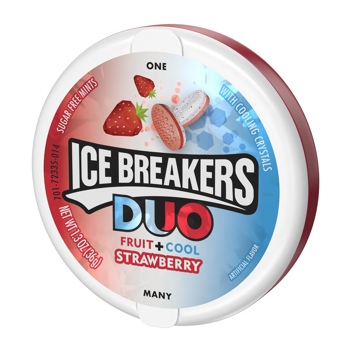 Image of ICE BREAKERS DUO Strawberry Flavored Mints Packaging