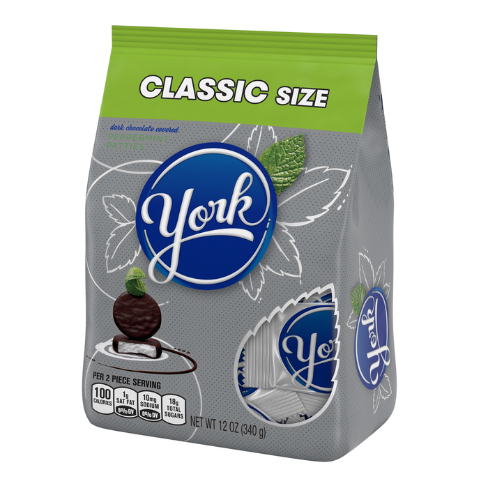 Image of YORK Peppermint Patties Miniatures [12 oz. bag] Packaging