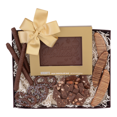 HERSHEY'S Chocolate Premium Holiday Gift Basket, Variety Assortment