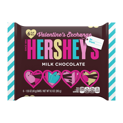 HERSHEY'S Milk Chocolate Valentine's Exchange
