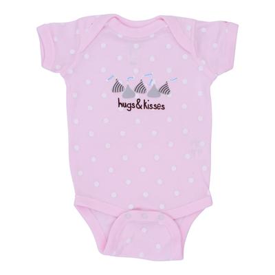 HERSHEY'S HUGS & KISSES Pink Polka Dot Bodysuit