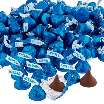 KISSES Milk Chocolates in Dark Blue Foils - 4.16 lbs.