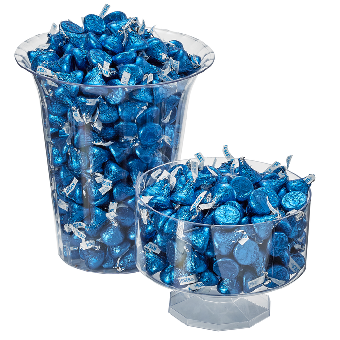 Image of KISSES Milk Chocolates in Dark Blue Foils - 4.16 lbs. [4.16 lb. bag] Packaging