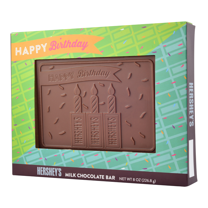 "Image of HERSHEY'S ""Happy Birthday"" Chocolate Bar - 8 oz. Packaging"