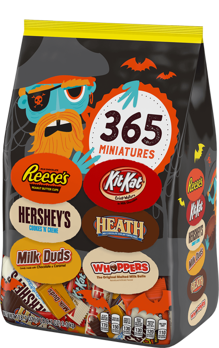 Image of HERSHEY'S Halloween Assortment Stand Up Bag  - 118.7 oz. (365 ct.) Packaging